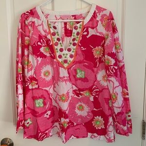 Lilly Pulitzer Beaded Shirt